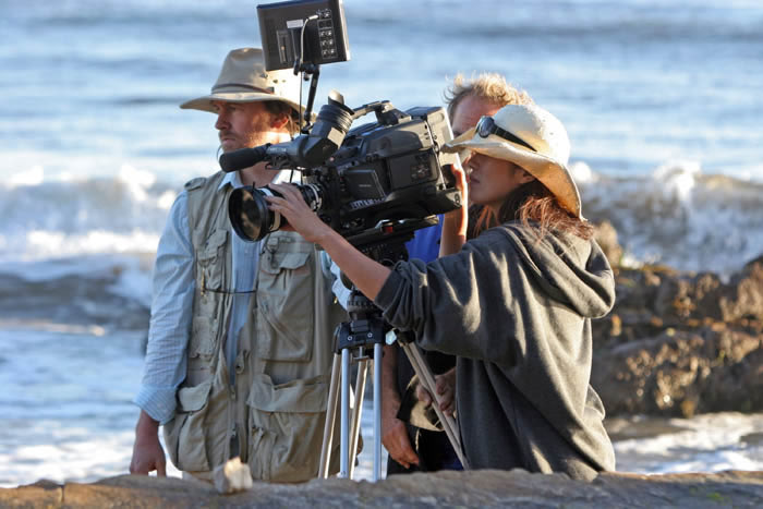 Michael Rissi Directing Beach Scene